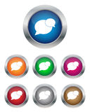 Conversation buttons. Collection of conversation buttons in various colors royalty free illustration
