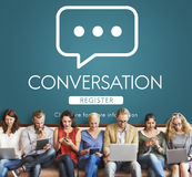 Conversation Communication Online Message Concept Royalty Free Stock Photos