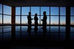 Conversation d'affaires Photos stock