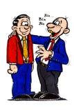 Conversation d'affaires Image stock