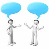 Conversation. 3d men with empty speech bubbles above them Stock Images