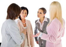 Conversation de femmes d'affaires d'équipe Image libre de droits