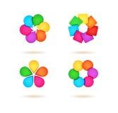 Conversation Design Symbols Collection. Simple colorfull design icons set royalty free illustration