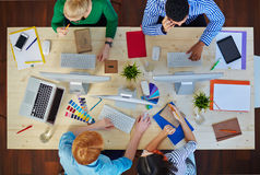 Conversation of designers Stock Image