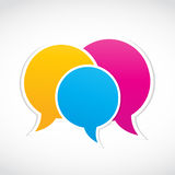 Conversation dialog stickers Royalty Free Stock Image