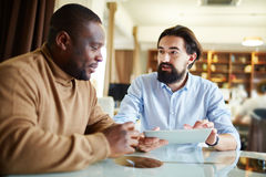 Conversation with employee Stock Images