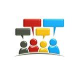 Conversation et discussion de personnes illustration du rendu 3d Image stock