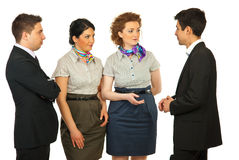 Conversation four business people Royalty Free Stock Photos