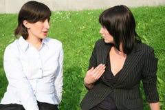 Conversation of girlfriends Stock Photo