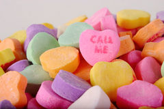 Conversation Heart Call Me Royalty Free Stock Images