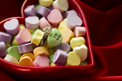 Conversation Heart candies Stock Image