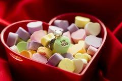 Conversation Heart candies Stock Photo