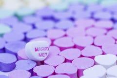 Conversation Heart candies Stock Photography