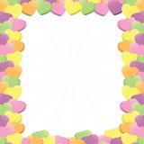 Conversation Hearts Border Stock Image
