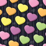 Conversation Hearts Seamless Tile Stock Photography