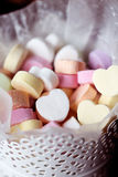 Conversation hearts. Valentines day conversation hearts blank stock photos