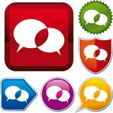 Conversation icon Royalty Free Stock Photography