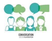 Conversation icons design Royalty Free Stock Photos