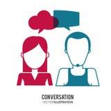 Conversation icons design Stock Photography