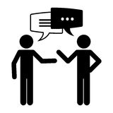 Conversation icons design Royalty Free Stock Images
