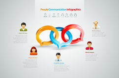 Conversation Infographics Stock Photography