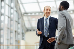 Conversation of leaders Royalty Free Stock Images
