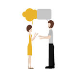 Conversation between man and woman icon image Royalty Free Stock Photography