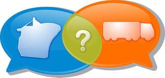 Conversation negotiation argument Illustration clipart. Illustration concept clipart speech bubble dialog conversation negotiation argument Royalty Free Stock Photo
