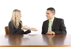 Conversation Of Two Businesspeople Stock Photos