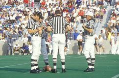 Conversation between referees. During Army Football game, West Point, NY Royalty Free Stock Photography