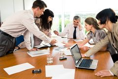 Conversation during seminar Stock Photos