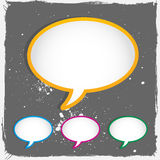 Conversation speech bubbles Royalty Free Stock Photo