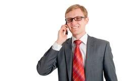 Conversation téléphonique Photographie stock libre de droits