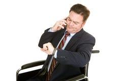 Conversation téléphonique ennuyeuse Images stock