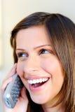 Conversation téléphonique occasionnelle image stock