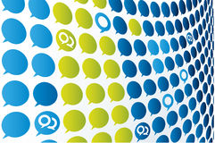 Conversation texture (vector). Conversation background (vector). Global colors. CMYK. Separate shapes Royalty Free Stock Image