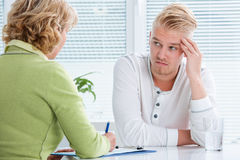 Conversation with a therapist royalty free stock image