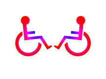 Conversation - Two Disabled Symbols Stock Photography