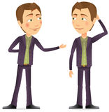 A conversation between two men. Color illustration vector illustration