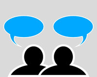 Conversation between two people Royalty Free Stock Images