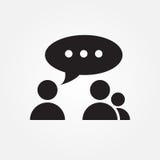 Conversation vector icon illustration graphic design. Royalty Free Stock Image