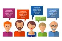 Conversation vector logo design template. society Royalty Free Stock Photos