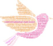 Conversational Narcissist Word Cloud. On a white background Royalty Free Stock Image