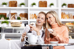 Conversations of girlfriends Royalty Free Stock Images