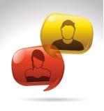 Conversaton sociale Fotografia Stock