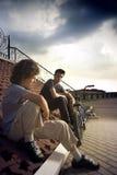 Conversazione degli adolescenti Immagine Stock