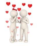 conversazione degli amanti 3d illustrazione vettoriale