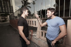 conversazione degli uomini Fotografia Stock Libera da Diritti