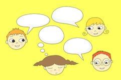 Conversazione dei bambini Immagine Stock