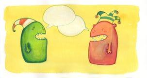 Conversazione dei mostri illustrazione vettoriale